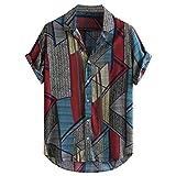 Camisa Hawaiana Hombre, Dragon868 Vintage Retro Camisas de Manga Corta, Camisa Estampada para Playa de Verano, Botón Informal Abajo Blusa Tops, Camisas de Solapa Hawaianas Hombre, M-XXXL