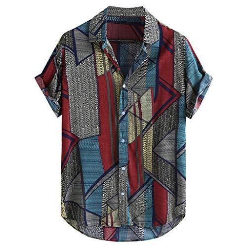 Camisa Hawaiana Hombre, Dragon868 Vintage Retro Camisas de M