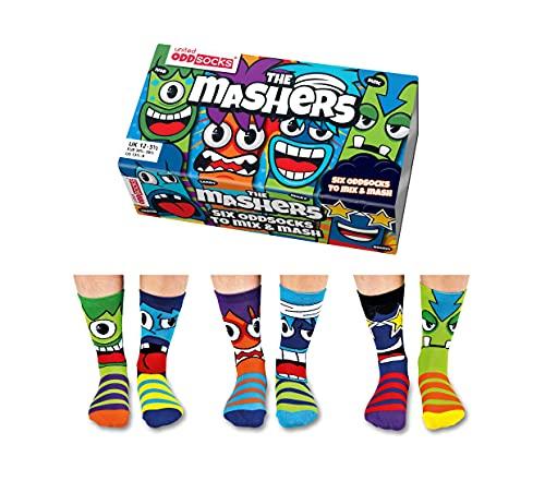 United Oddsocks - Recuadro 6 Odd calcetines para los muchachos- Mashers