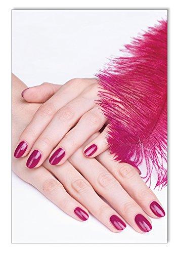 Feder Lila Nails Poster / Plakat DIN A3 Nagelstudio