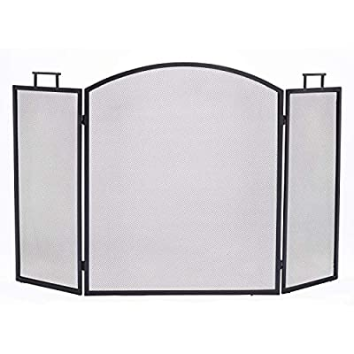 Pleasant Hearth Classic Fireplace Screen, Black from Pleasant Hearth