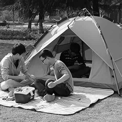 MJY Zelt Außenzelt Automatische Geschwindigkeit Offene Verdickung Regen Zelt 3-4 Personen Campingzelt Doppelte Farbe Optional,Blau,215 * 210 * 135 cm