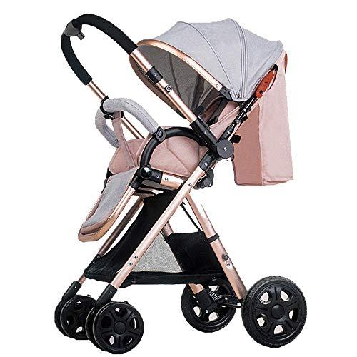 KJRJYR Infant Kleinkind Kinderwagen Wagen Cynebaby Compact Kinderwagen Einzel Kinderwagen hinzufügen Getränkehalter Fußsack Kinderwagen Tablett 55 * 41 * 108cm (Color : E)