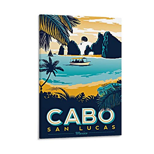 Vintage Travel Posters Cabo San Lucas Canvas Art Poster and Wall Art Picture Print Modern Family Bedroom Decor Posters 24x36inch(60x90cm)