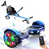 EVERCROSS Hoverboard, Self Balancing Scooter Hoverboard with Seat Attachment, 6.5' Hover Board Scooter with Bluetooth Speaker & LED Lights, Hoverboards Suit for Kids
