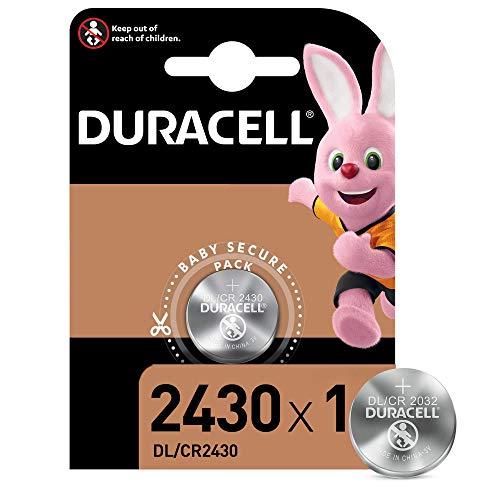 Duracell DL2430/CR2430 - Batteria Bottone Litio 3V, Specialistica Elettronica, Progettate per l'Uso su Chiavi con Sensore Magnetico, Bilance, Elementi Indossabili e Dispositivi Medici, Confezione da 1