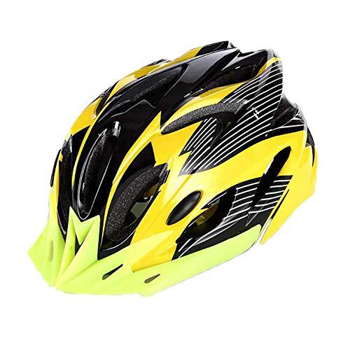 YOUCAI Fahrradhelm - Verstellbarer Skateboard Radhelm Schutzhelm Mountainbike Helm Gelb Schwarz L
