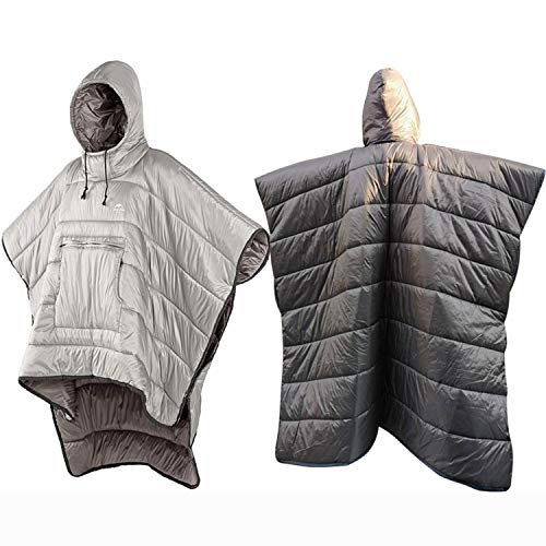 ODSE Honcho Poncho Wearable Hoodie Blanket - Multi-Use Premium Camping Sleeping Bag Winter Outdoor Cloak Cape, Extreme Weather Warm/Windproof Hooded Blanket with Stuff Sack (Khaki)