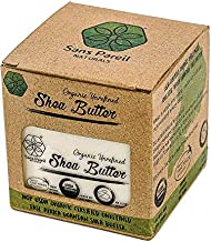 USDA Certified Organic Shea Butter: Highest Quality Unrefined Rare Nilotica, Certified Fair-Trade - Nourishes, Replenishes and Protects Skin and Hair - 8oz