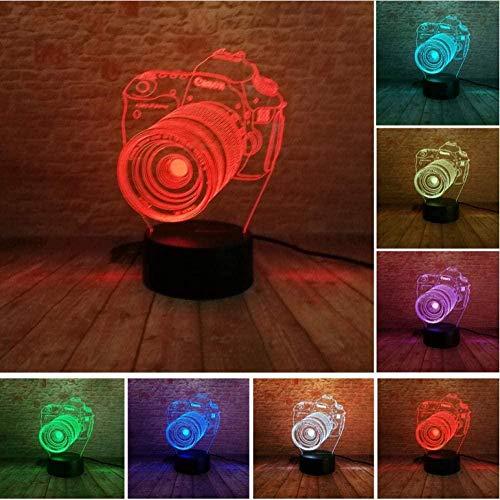 7 kleurverloop usb control nachtlampje acryl camera 3D led lamp kind kind speelgoed verjaardagscadeau sieren