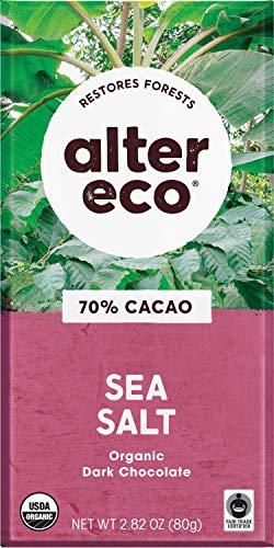 image of Alter Eco Organic 70% Cacao Sea Salt Dark Chocolate