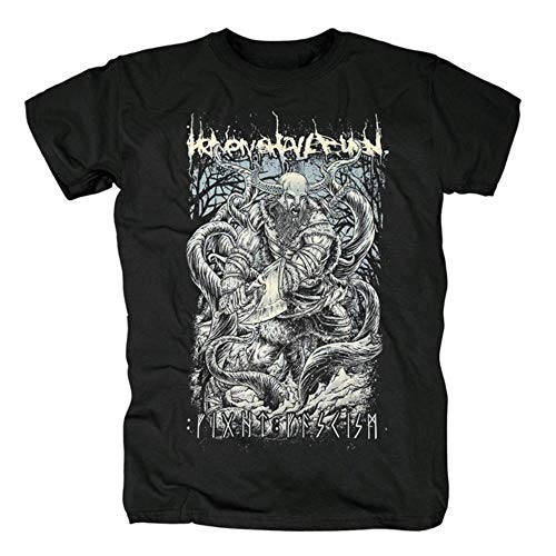Biooarc Heaven Shall Burn Men's Death Metal Hardcore Black T-Shirt in Summer,style2,L