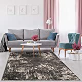 Luxe Weavers Lagos Collection Dark Grey 8x10 Abstract Area Rug