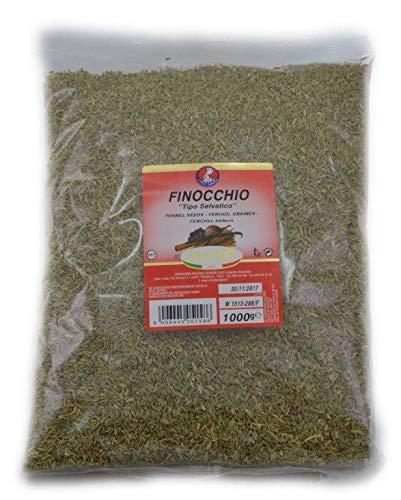 Shapur Semi di Finocchio Selvatico Busta 1kg Aromi Alimenti Cucina Salsiccia Carni e Preparati