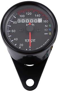 Kecheer Display LCD universale per motocicletta 12V modificato contachilometri contagiri contachilometri Display LCD 0-10000 giri//min 0-199 km//h 7 colori