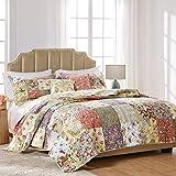 Greenland Home Blooming Prairie Cotton Patchwork Quilt Set, 5-Piece Full/Queen, Multi