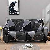 WXQY Fundas de celosía geométrica Funda de sofá elástica Funda de sofá de protección para Mascotas Funda de sofá de Esquina en Forma de L Funda de sofá Todo Incluido A2 2 plazas