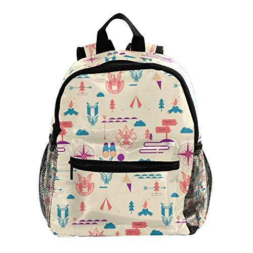 Mochila escolar ligera, mochila de viaje, campamento al aire libre, colorido patrón de cola de pavo real