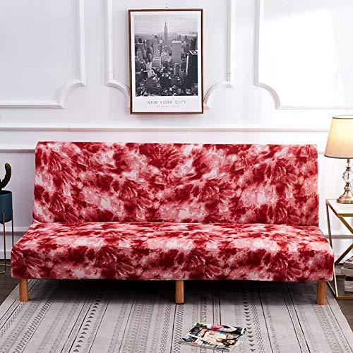 Sofá Funda de Cama Fundas elásticas Sofá Funda de sofá elástico con Asiento de Amor Funda de Asiento de Banco para Sala de Estar L 185-215 cm Rojo