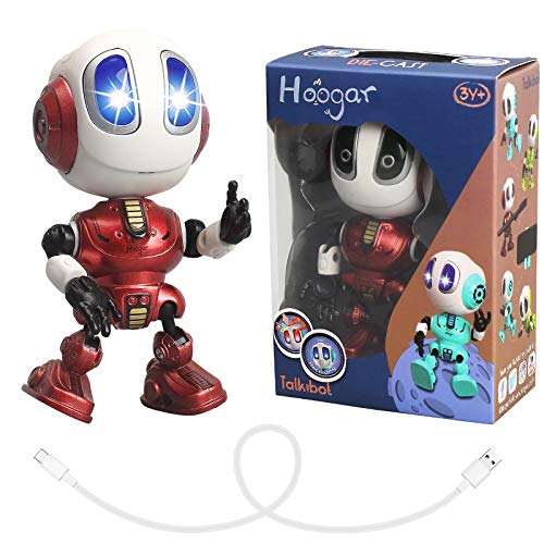 HOOGAR Robot Toys for Age 3 4 5 6 7 8+Year Old Boys Girls, Birthday Gifts for 3-8 Year Old Kids, Repeat What You Say, Rechargeable New Version