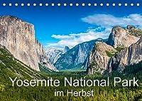 Yosemite National Park im Herbst (Tischkalender 2022 DIN A5 quer): Der Yosemite National Park im Farbenspiel des Herbstlaubs (Monatskalender, 14 Seiten )