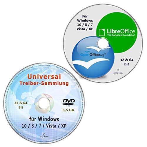 OpenOffice & LibreOffice, vorlagen & Softwarepaket + Universal Treiber-Sammlung für Windows 10 / 8 / 7 / Vista / XP (32 & 64 Bit) alle PC & Notebook Modelle (2 DVD Spar-Set)