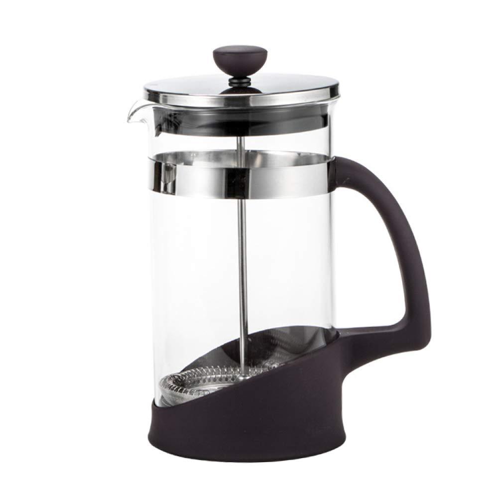 ERKEJI Tetera de plástico, Mango de plástico, púrpura, Filtro de Doble Capa, Prensa de Vidrio Transparente, método de presión, Olla de café, cafetera Especial para el café en casa: Amazon.es: Hogar