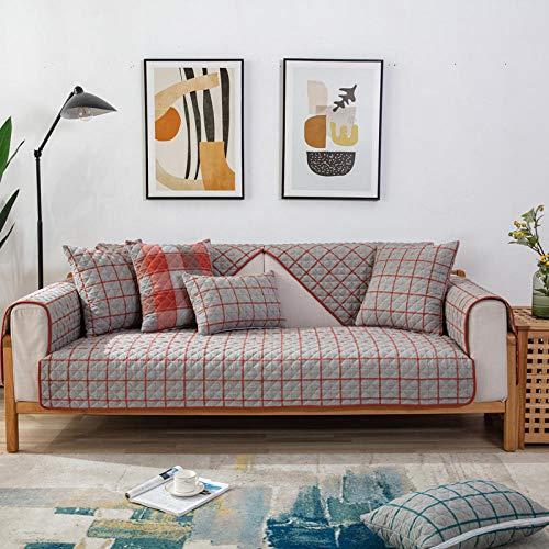 Homeen Fundas de sofá, funda de sofá, fundas de cojín de algodón cómodas, fundas de sofá de 1/2/3/4 plazas, funda de sofá de tela jacquard para 4 estaciones -F_90*180cm