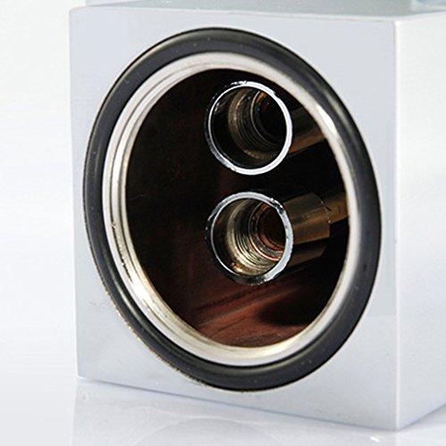 KINSE® Farbwechsel LED Verchromt Einhebelmischer Waschtischarmatur mit Temperatursensor Wasserhahn für Bad - 5