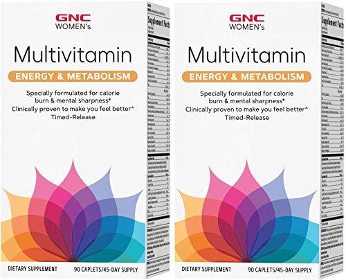 GNC Women's Energy & Metabolism Multivitamin 90 ct (Pack of 2)