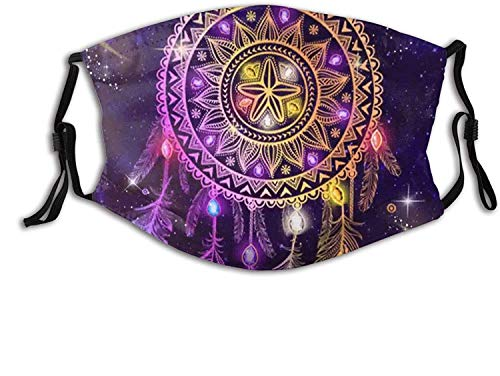 St patricks day gift for kids Native American Printed Face Mask Decorative Adjustable With 2 Filters For Men And Women Balaclava Bandana Dreamcatcher Native American face masks washable