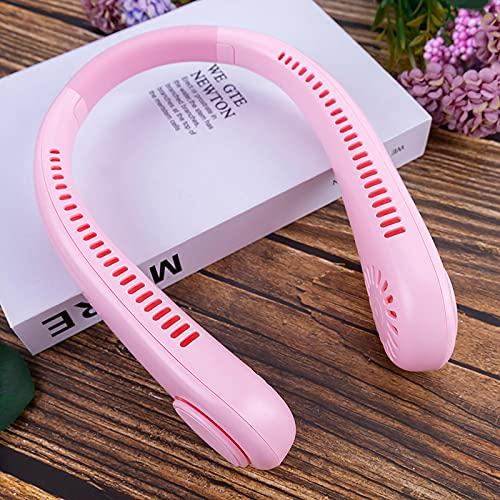 N\C Mini Fannullone appesi Senza Foglie Portatile Collo Appeso Piccolo Ventilatore con Collo contorto Pink