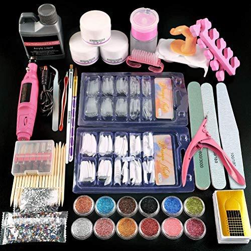 Desire Sky acrylnagels, imitatienagels, volledige set, accessoires voor manicure, nagelvijlen, draagbare nagelboormachine voor zelfgemaakte nagelkunst