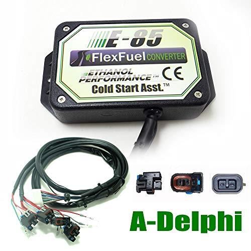 Kit Ethanol E85 4-cylindres, 4cyl E85 Kit de Conversion Carburant Alternatif à l'éthanol avec démarrage à Froid, biocarburant E85, Voiture à l'éthanol, convertisseur de bioéthanol (Delphi)