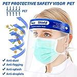SGODDE 10 Pcs Pantalla Protección Facial Transparente, Protector Facial de Seguridad, Viseras de Seg... #2