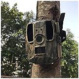 LXLTL Cámara de Caza, Rango de Detección de 120 °, IP66 Impermeable, cámara de vigilancia con 52 LED, visión Nocturna infrarroja hasta 25m