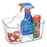 mDesign organizador plástico con 4 compartimentos para su lavadero - Cesta organizadora e...