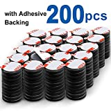 DIYMAG Powerful Ceramic Disc Magnets 200 Packs with Double-Sided Adhesive, Powerful Cerami...