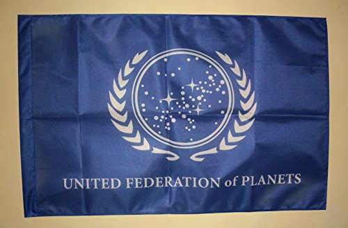 Frikigames United Federation of Planets Banner Flagge Star Trek