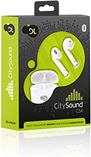 Fone Bluetooth Tws Dl Citysound Cs4 Stéreo, Totalmente S/Fio C/case para recarga, Branco
