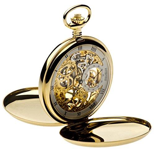 Jean Pierre chapado en oro doble Hunter reloj de bolsillo, esqueleto, la Federación _ g250pm
