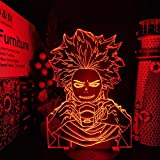 Luces nocturnas Boku no Hero Academia Shinsou Hitoshi Led ANIME LAMP MY HERO ACADEMIA que cambia de color para regalo de Navidad