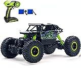 SZJJX Control Remoto Coche Off-Road RC Trucks Vehículo Potente 2.4Ghz 4WD 1:18 Carreras Coches de Escalada Radio Electric Rock Crawler Buggy Hobby Toy para niños Regalo-Verde