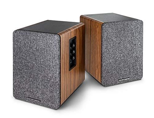 wavemaster Base - Regallautsprecher-System (30 Watt) mit Bluetooth-Streaming und Kopfhörerausgang, Aktiv-Boxen, Nutzung für TV/Tablet/Smartphone (66500)