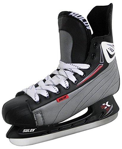 SULOV Herren Schlittschuhe Eishockey, Schwarz, 43