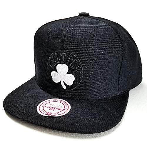 Mitchell & Ness Boston Celtics Snapback Adjustable Black and White Logo Hat Cap