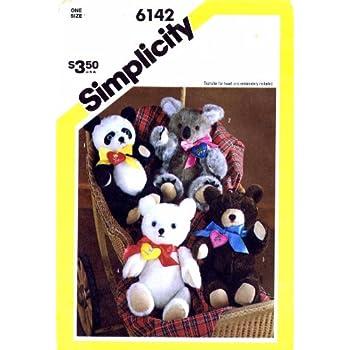 Teddy Bear /& panda patrones de costura