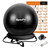 SpoxFit Exercise Ball Chair with Resistance Bands, Perfect for...