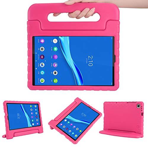 KAVON Funda Protectora para Tableta Lenovo Tab M10 HD (2nd Gen) 10.1 Pulgadas 2020 TB-X306F ,EVA Soporte de Mango Convertible a Prueba de Golpes,Estuche para Tableta Liviano para Niños (Rosa)