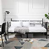 GreenForest Daybed Metal Bed Frame Twin Size Mattress Foundation Platform Base No Box Spring Needed for Guest...
